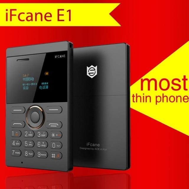 IFcane E1 мини Сотовый Телефон Студент Версия ультра тонкий мини кредитной карты Мобильного телефона FM Радио Bluetooth