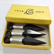 3pcs/box High quality 3styles NARUTO Hatake Kakashi Deidara Haruno Sakura Kunai Shuriken Weapons Cosplay PVC Cosplay Accessories