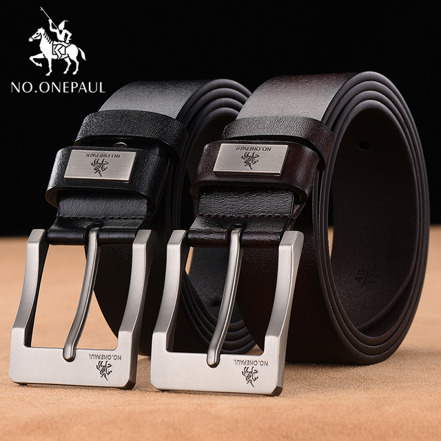 NO. ONEPAUL Cow Genuine Leather Luxury Strap Male Belts 3