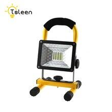 TSLEEN LED Flood Light 18650 Battery 30W LED Floodlight IP65 Waterproof 100-240V LED Spotlight LED Outdoor Lighting Garden Lamp