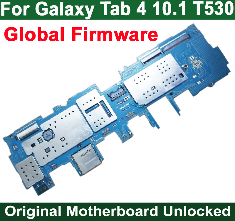 HAOYUAN.P.W Original Full Work Unlock Motherboard Circuits For Samsung Galaxy Tab 4 10.1 T530 Electronic Panel Global Firmware-in Mobile Phone Housings & Frames from Cellphones & Telecommunications    1