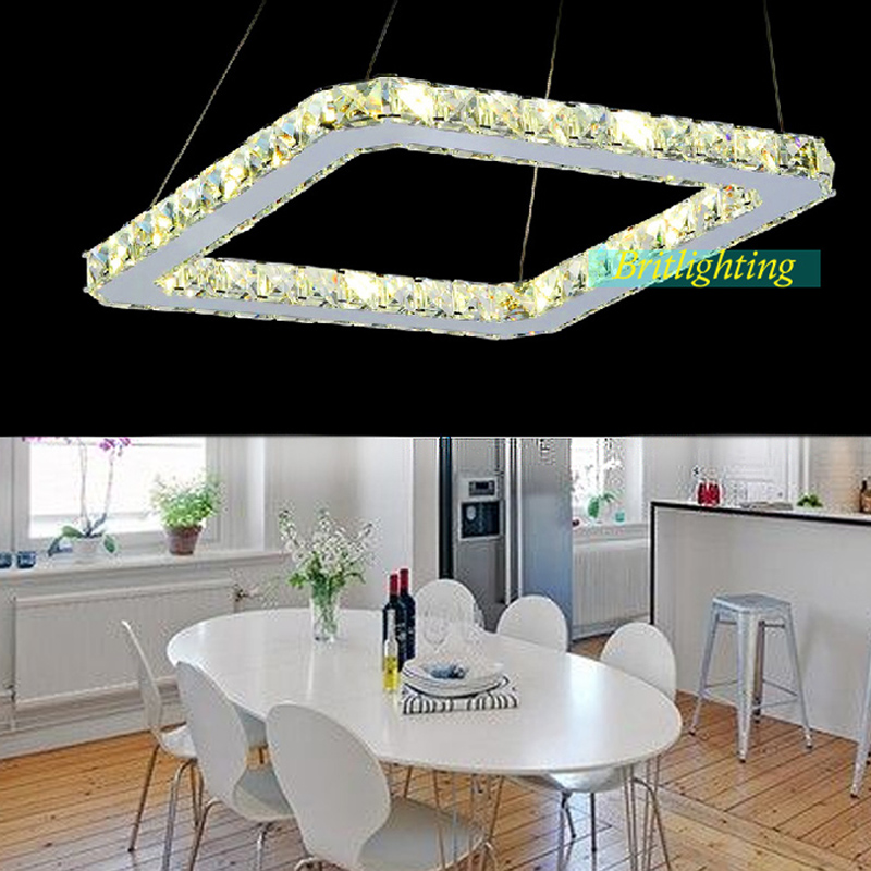 40cm Square Pendant Lamp Led Pendant Lighting Bedroom Lamp