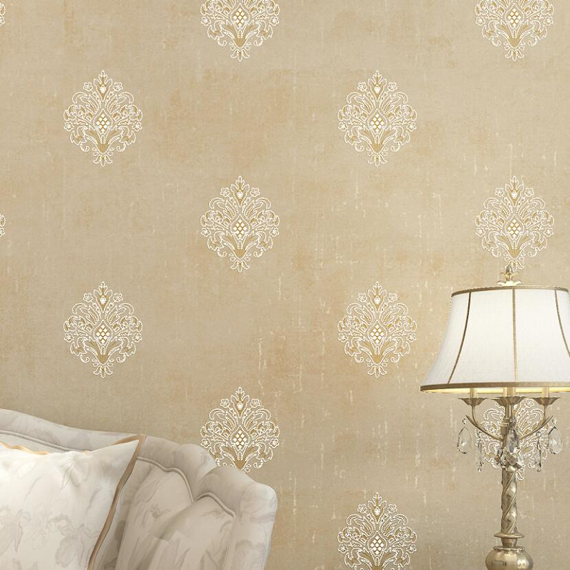 Elegant European Flower Wallpaper Luxury 3d Embossed