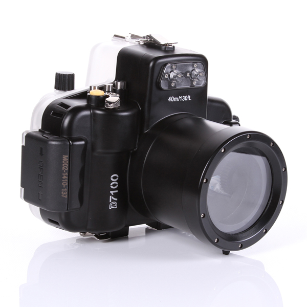 for Nikon D7100 DSLR & 18-55mm Lens 40M 130ft Waterproof Underwater Housing Hard Case