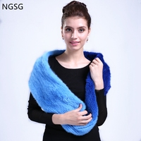 Solid Women's Scarf Guarantee Import Mink Material Real Jasper Soft Comfortable As Gift Send To Friend Mather 130 cm ET4030 9