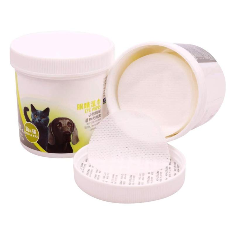 100 Pcs/lot Grooming Pet Wipes Hypoallergenic Antibacterial for Dogs Cats Other Pets to Clean The Tear Stains PNB0332 image