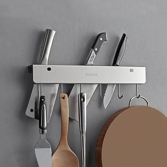 Handtuchhalter Küche wand montiert küche edelstahl messerhalter mit rotation haken