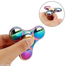 Rainbow EDC Hand Spinner Tri Fidget Focus Desk Toys Stocking Stuffer Kids/Adult