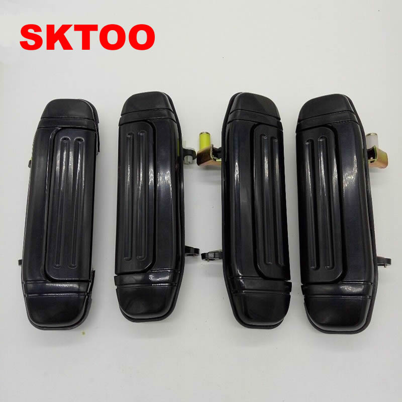 SKTOO A Set/4PCS Door Handle Plating for Mitsubishi Montero Pajero V46 V31 V32 V33 6470 6473 2030 parts (Plating on Plastics)