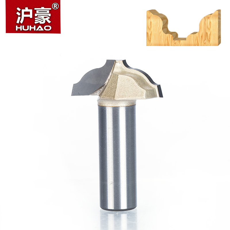 HUHAO 1pc 1/2  Shank Trimmer Router Bits For Wood Tungsten Carbide Woodworking Engraving Endmill  Chisel Cupboard Edge Cutter huhao ipc 8mm shank woodworking cutter cnc tungsten steel router bits for wood carbide woodworking engraving tools carving bit