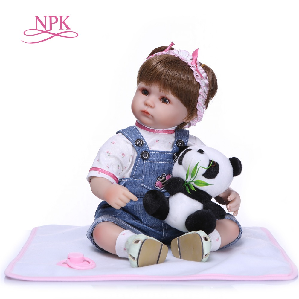 NPK 40cm Silicone Reborn Baby Doll kids Playmate Lifelike toddler Baby Baby Dolls For Princess Children