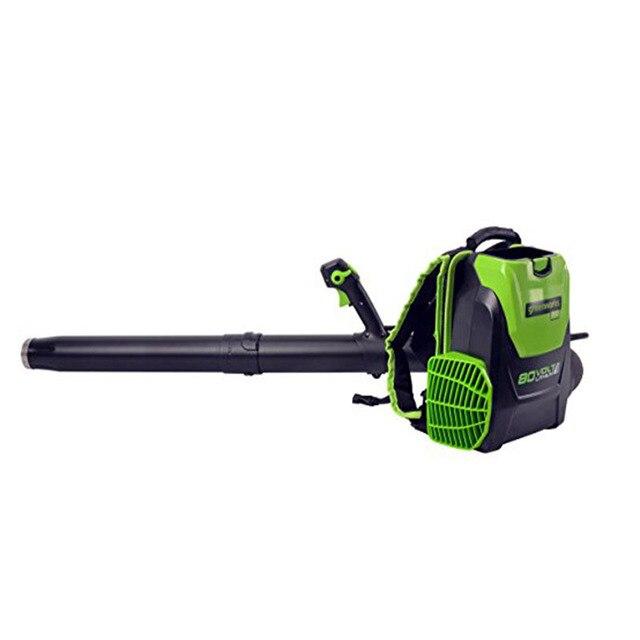 Souffleur de feuilles de jardin extérieur Greenworks Pro 80V 500 CFM DigiPro souffleur de feuilles sans fil 80V 5.0ah chargeur de batterie