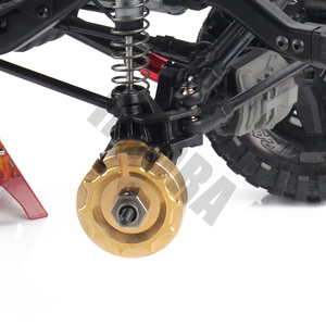 Image 5 - INJORA 2PCS TRX4 Brass Counterweight Balance Weight Portal Drive Housing for 1:10 RC Crawler Traxxas TRX 4 TRX 6
