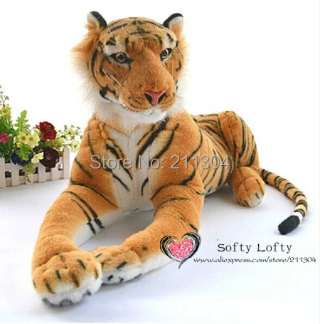 Free shipping emulate tiger plush animal stuffed toy gift for friend kids children kids boys birthday party gifts zoo king тумба прикроватная сальвия