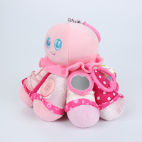 Baby Toys Early Learning Plush Octopus Animal Rings High Quality Baby Rattles Toy Training Zipper Tie