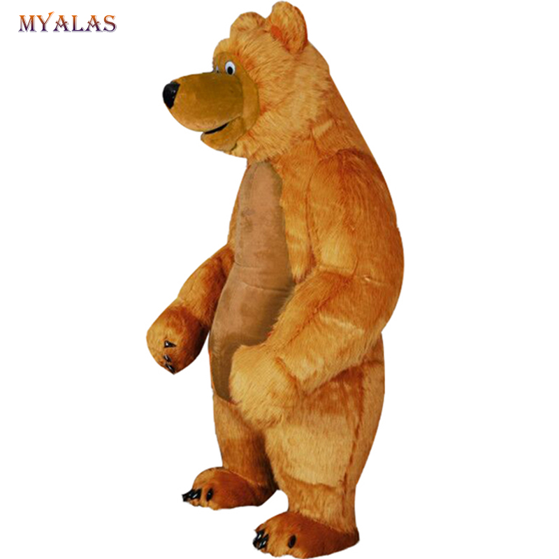 Inflatable Bear Mascot Costume Bear For Adult Anime Cosplay Customize Kits Mascotte Carnival Costumes Animal Mascotte