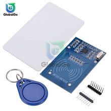 цена на 1 Set RFID Module RC522 Kits S50 13.56 Mhz 6cm With Tags SPI Write & Read for arduino Antenna IC Wireless Module Key Chain