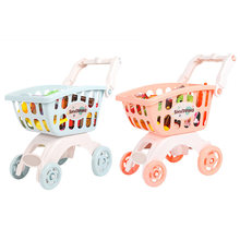 Kids Mini Simulation Toys Shopping Mall Supermarket Cart Trolley Toy Pretend Play House Handcart Puzzle Play Toy Set(China)