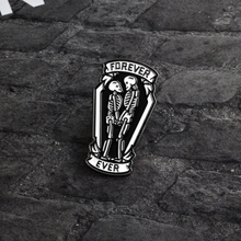 Skeleton pins lover brooches for men and women