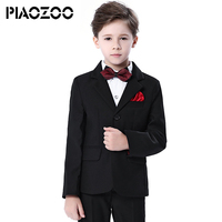 Boys suits Black for weddings kids Blazer Suit for boy costume enfant garcon mariage jogging garcon blazer boys tuxedo 4pcs/set