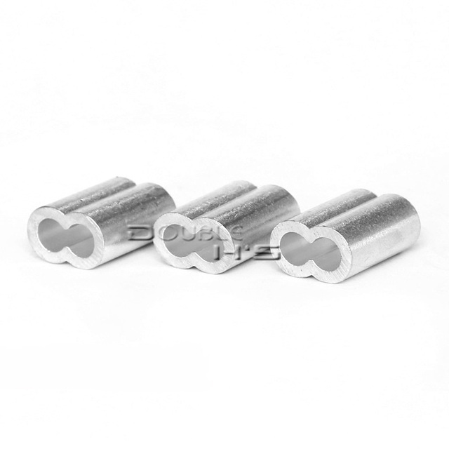 500 teile/los 4mm Aluminium Kabel Crimps Ärmeln Seil Clip Armaturen ...