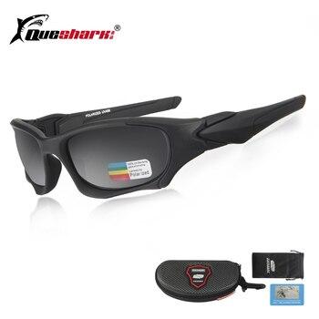 8a84315185 QUESHARK senderismo gafas deportes táctico militar polarizado gafas de sol  hombres HD Camping pesca gafas ciclismo bicicleta gafas