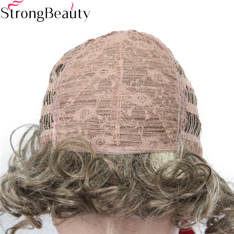 Image 4 - Strong Beauty Short Curly Wigs Synthetic Hair Capless Women WigSynthetic None-Lace  Wigs   -