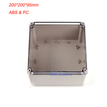 Square Electrical ip66 waterproof plastic box as outlet/junction Enclosure Clear PC Cover ABS boxes 200*200*100mm DS-AT-2020-s