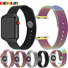 Milanese Loop Band for Apple watch 42mm 38mm Link Bracelet Strap Magnetic adjustable buckle with adapter for iwatch Series 4 3 2 hot sale hoco 3 colors milanese band for huawei watch 42mm with magnetic closure and beautiful retail package