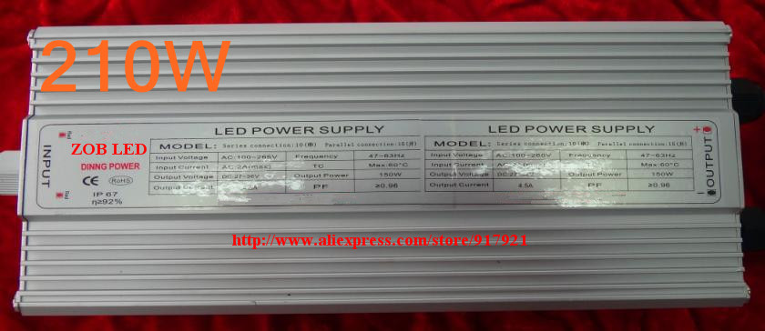 210w led driver, DC54V,4.2A,high power led driver for flood light / street light,IP65,constant current drive power supply 90w led driver dc40v 2 7a high power led driver for flood light street light ip65 constant current drive power supply