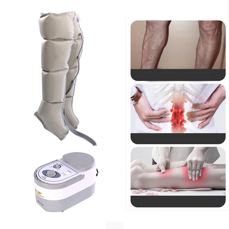 Pneumatic Leg Kneading Foot Electrical Air Wave Pressure Massager Physical Therapy for Leg Edema Varicose Veins