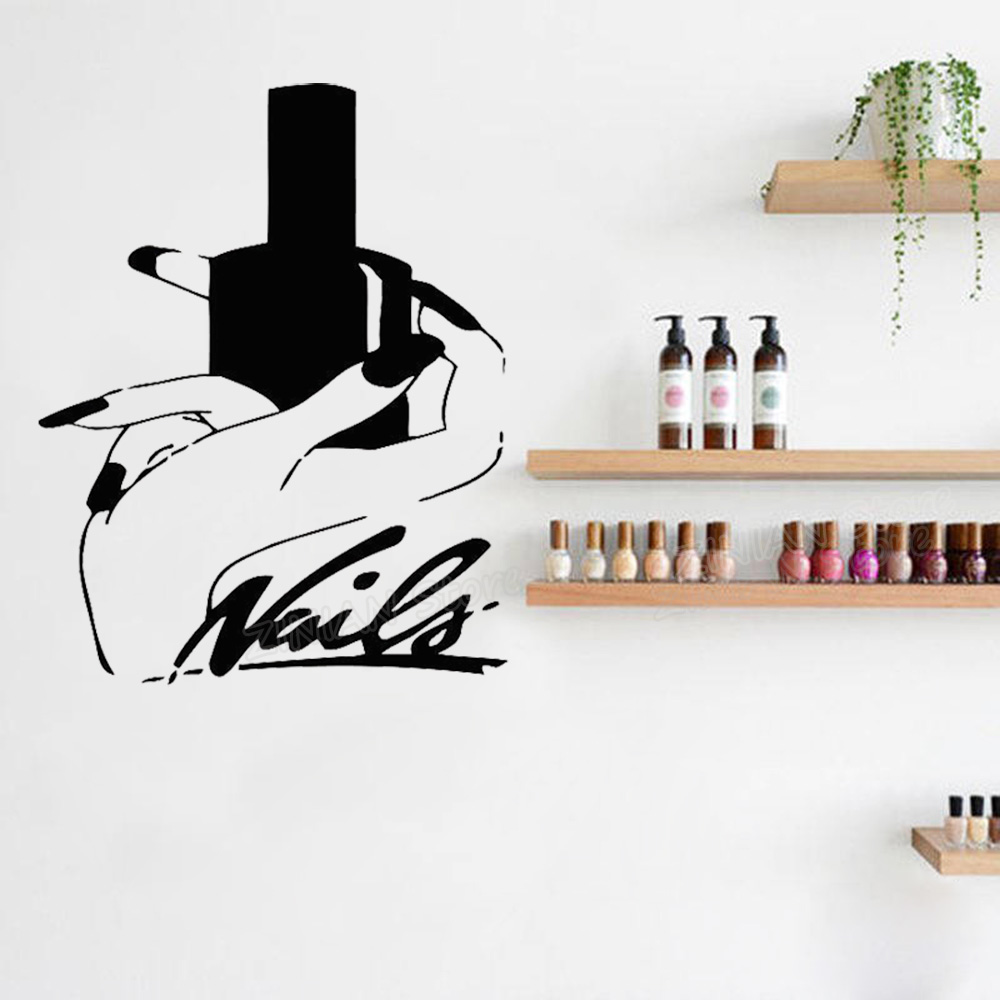 Nail Stylist Nail Polish Girl Hand Wall Decal Nails Art