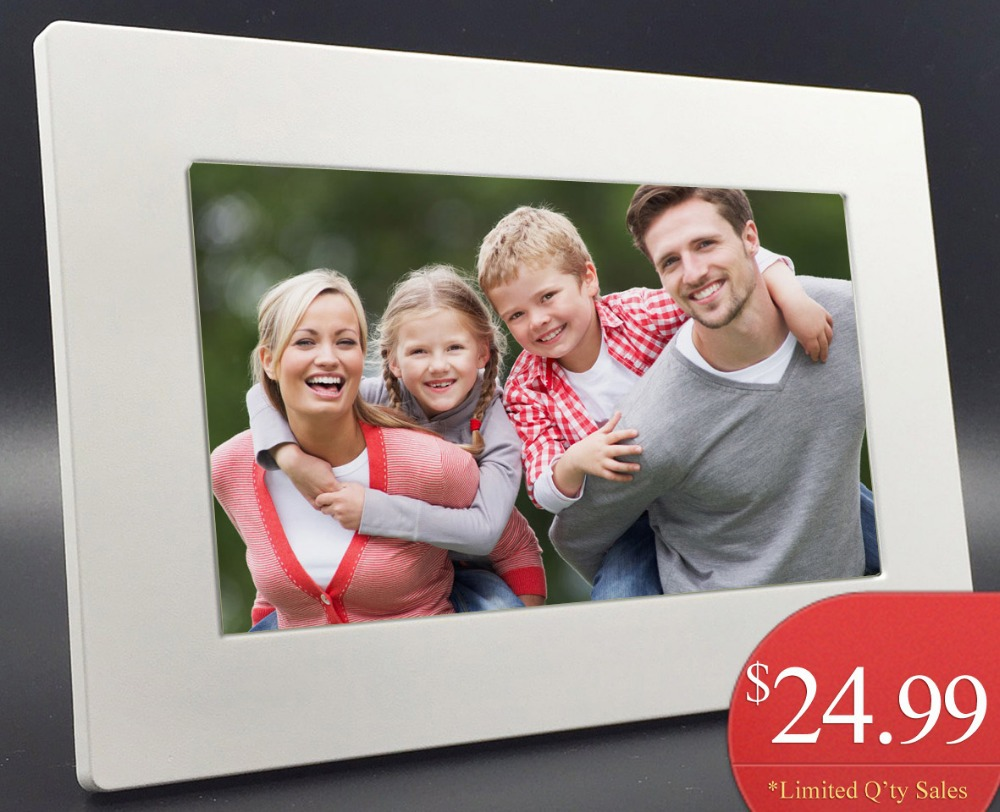 new fashion 6 inch mini digital photo frame photo music video player clock calendar best gift free shipment