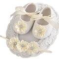 Bebê Sapatos de Sola macia Meninas Strass Headband Set, Bonito Botas Criança, Bebe Sapato, Sapatos de Batismo, sapatos de bebê menina