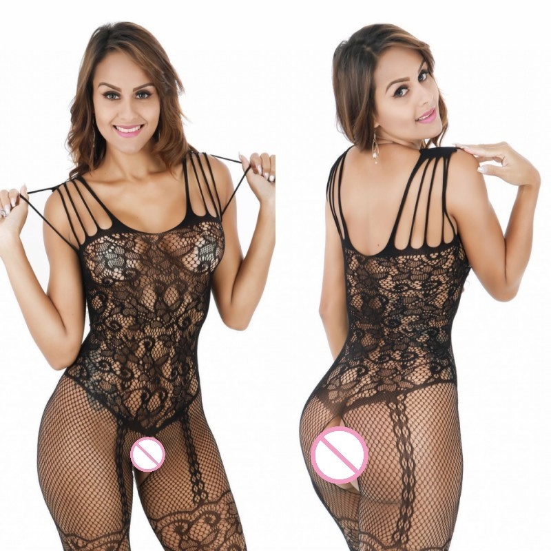 Sexy Teddy Sleepwear Open Crotch Body Medias Sexy Erotic Lingerie - Novedad