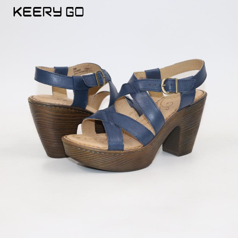 879f29a8be4 2018New Leather Sandals Women sandals Cross Rome women s sandals ...
