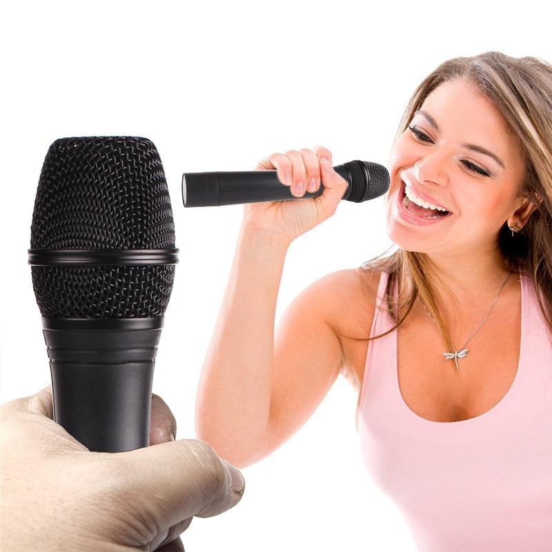 Tüketici Elektroniği'ten Mikrofonlar'de SikkiS Kablosuz 1 Tahrikli 2 Mikrofon Çift Anten Ev Karaoke TV Bilgisayar Hoparlör KTV Verici ile Yüksek Sadakat JV105