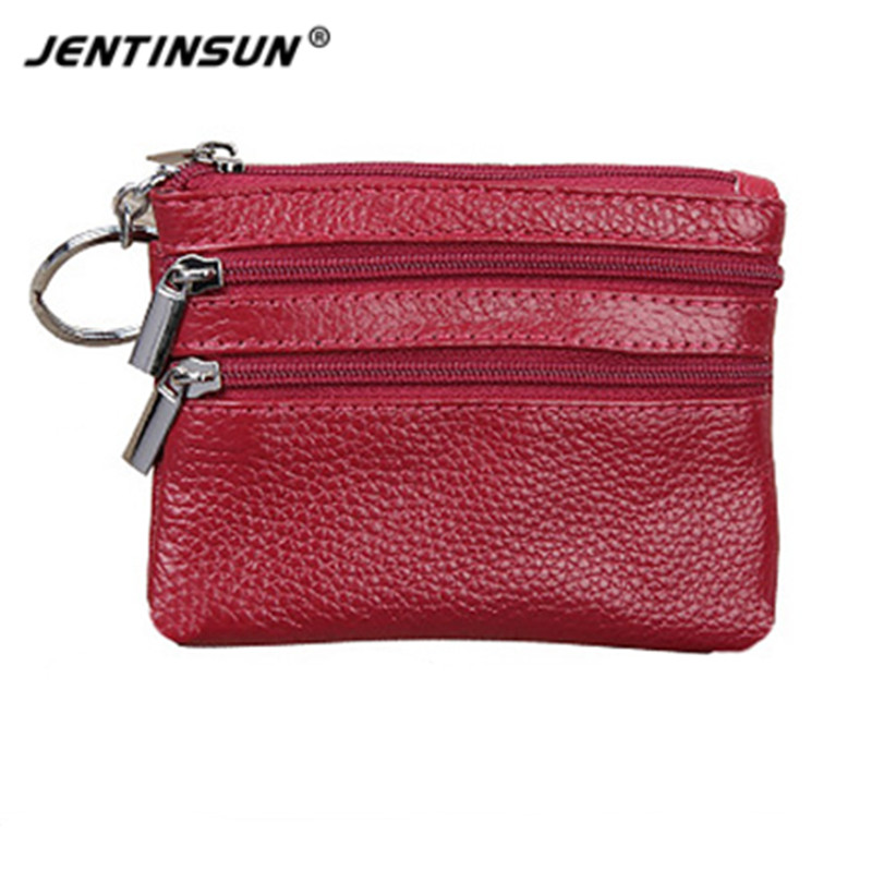 Fahion Genuine Real Leather Women Short Wallets Small Wallet Zipper Coin Pocket Card Holder Purses Money Bag for Female vintage women short leather wallets stylish wallet coin card pocket holder wallet female purses money clip ladies purse 7n01 18
