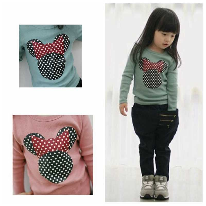 Autumn 2018 Baby Girl Clothes Baby Kid Print Minnie Long Sleeve Clothes Girls Clothing Cotton Casual Fashion Children ClothIing