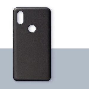 Image 2 - Original Xiaomi Mi Mix 2กรณีของแท้หนังPC Mi Mix 2SสำหรับXiaomi Mix 2Sกรณีคุณภาพสูงสีดำ