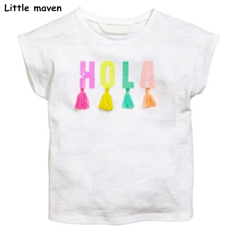 Little maven kinderen 2018 zomer baby meisje kleding korte mouw - Kinderkleding - Foto 2