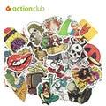Actionclub 100 unids mezclada al azar pegatinas decoración del hogar portátil coche motocicleta maleta Bike Sticker Kids para niños DIY juguetes