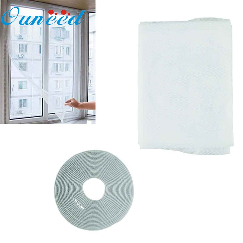 Art-House Store Ouneed 150 * 130 cm Built-in Hot Selling Insect Fly Mosquito Window Net Netting Mesh Screen New Curtains*30 Drop