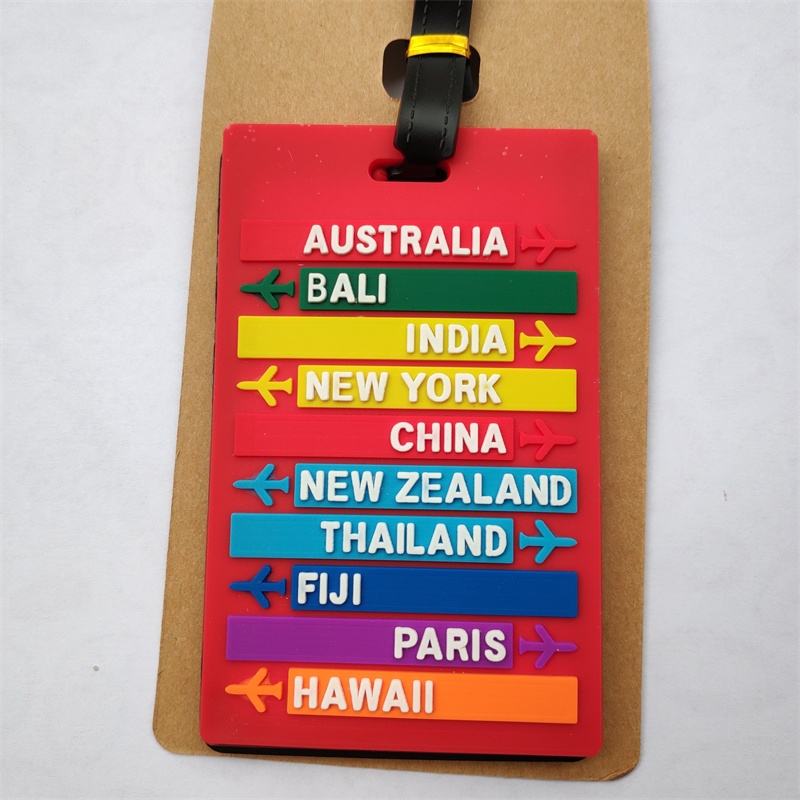 Hot Sale Countries Letters Travel Luggage Tag ID Address Holder Protection Suitcase Tags Travel Accessories Portable Label