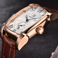 New BENYAR Waterproof Gold Watch Man Calendar Luxury Brand Quartz Sport Watch Men Leather Strap Men's Wrist Watches Clock Male