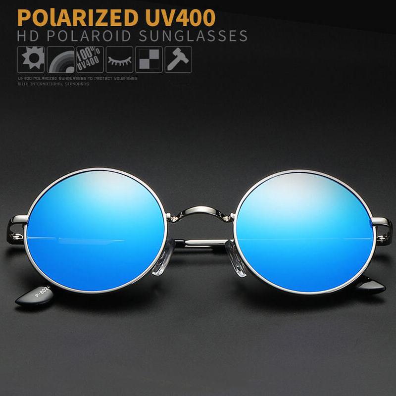 HTB194ThdhPI8KJjSspoq6x6MFXaw - FREE SHIPPING Polarized sunglasses vintage sunglass round sunglasses Black Lens JKP412