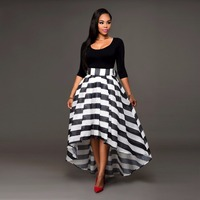 Top Sale Two piece Long Stripe Skirt & Tops