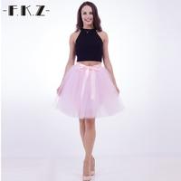 DEXIA Summer Tulle Skirt Womens 7 Layers 50cm Midi Female Elastic Belt Tutu Skirts Adult Bridesmaids