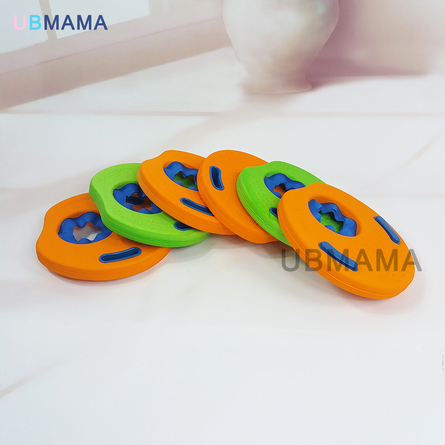 High Don't Inflate  Buoyancy Soft Baby Swimming Pool Swimming Armbands Learning Swimming Ring Eva Arm Floating Material