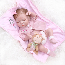 48 ซม. ซิลิโคนตุ๊กตาเด็กทารกแรกเกิดเหมือนไวนิล Reborn Sleeping สาวทารกอาบน้ำของเล่นเด็กวันเกิดของขวัญ
